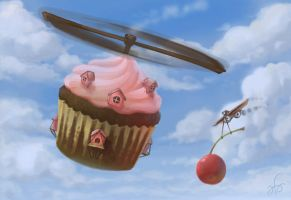 The Flying Bakery is open by inkwraith