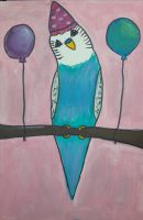 Party budgie by TaitGallery