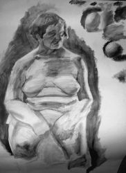 life painting...... Water soluble pencil by popthemelon8