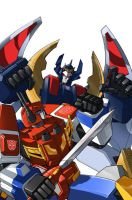 Transformers Headmasters DVD Cover by glovestudios