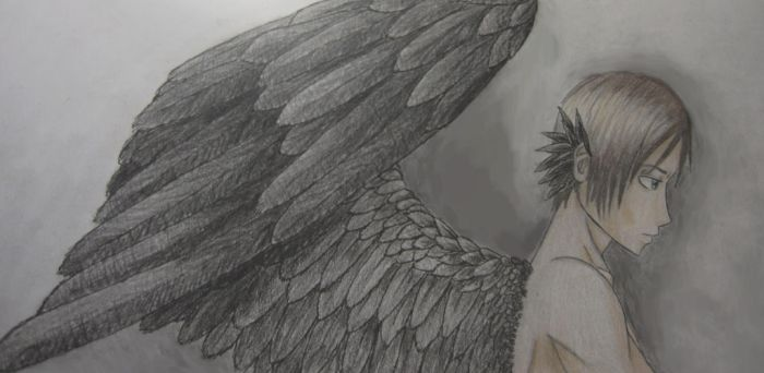Harpy!Eren by AndroidButterfly