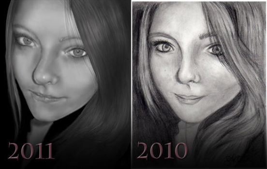 Before After - Self Portrait by SweetJeannie