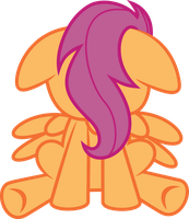 Sad Little Scootaloo by DeadParrot22