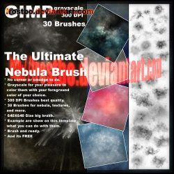 Ultimate Nebula Brushes GIMP by FrostBo