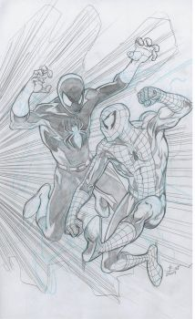 Spidey vrs the Black Spider by bathill8