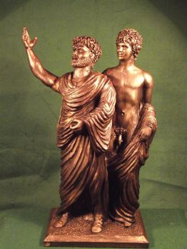 Hadrian and Antinous LGBT History by Pinkpasty