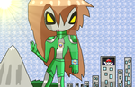 Ultrawoman Leaf in Viridian City by AnimeArtist154ever