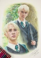 Tom Felton/ Draco Malfoy - Harry Potter Drawing by Tokiiolicious