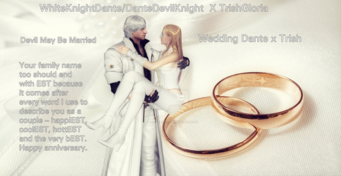[whiteknightdante X Trishgloria's Wedding] by lara-croft-01