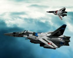 Robotech Macross in 3D 'VF-1S' by jedizebi