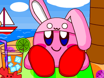 Kirby come in beach by cuddlesnam