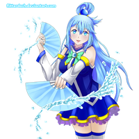 Aqua the Useless Goddess by FlitterDash