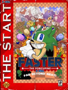 Faster the Porcupine Vintage Official Poster by JayAxer