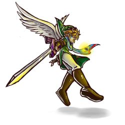 Winged Link- concept doodle by Mimibert