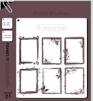 Brush Pack - Grungy Frames 01 by iMouritsa