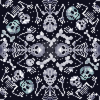 Skeleton pattern by CharlotteHewins