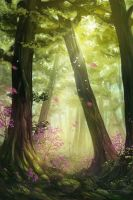 Green Forest by CassiopeiaArt