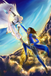 Szeth and Kaladin in the sky with diamonds by glimmer22