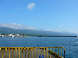 Mountains from Ferry by katters