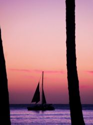Waikiki Sunset by WriterOfWolves