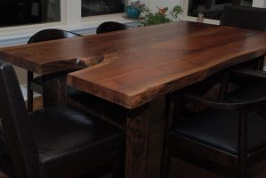 Escade Live Edge Dining Table by belakwood