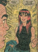 Mary Jane Watson Comic Collage by flukiechic
