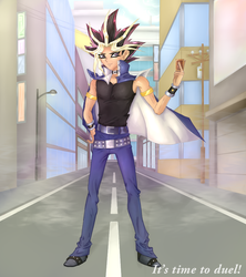 Atem - It's Time to Duel! by xSparxQueenx