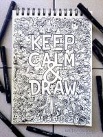 DOODLE ART: Keep Calm And Draw by kerbyrosanes