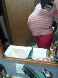 preggo side view 1 by tbiss2000