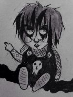 Litttle Fat Goth Child by FleshPalace