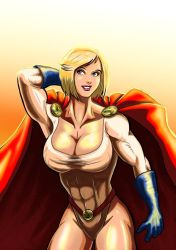 Power Girl - Glowing in the Sun by adamantis