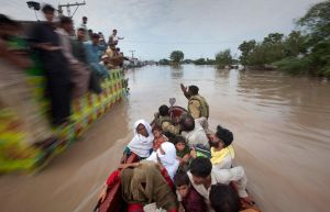 flood releif in boats by zamir