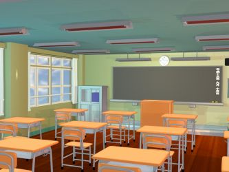 Anime Background - Classroom II by FireSnake666