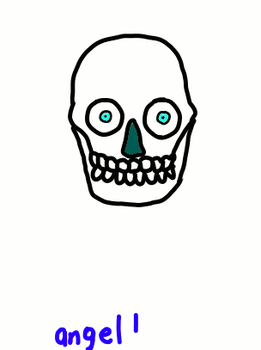 skull throwing up by angeldead1996