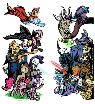 My Little Pony Archenemies by SouthParkTaoist