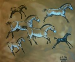 Cave Wall Gallop by amberchrome