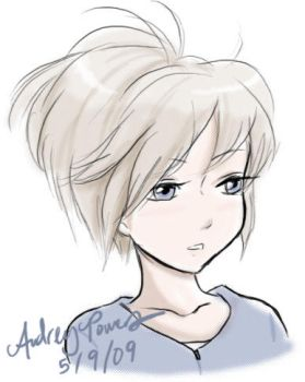 Short Haired Girl by Yunyin