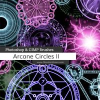 Arcane Circles II Photoshop and GIMP Brushes by redheadstock