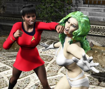 Uhura Punch-Out by Stone3D