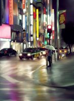Tokyo Rain by Christopher-Stoll