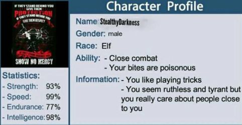 Character Profile!  by StealthyDarkness