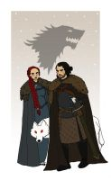 Jon and Sansa by Mechouille