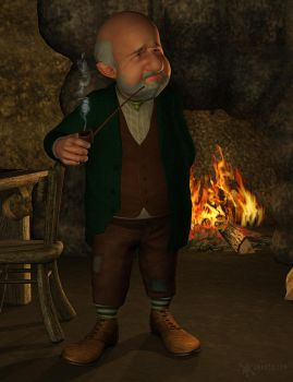 Dwarf near the fireplace by smay3d
