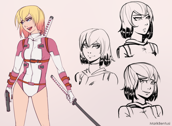 Evening Gwenpool Sketches by MarikBentusi
