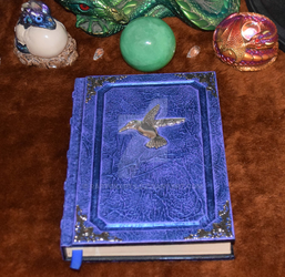 Hummingbird tome Spellbook grimoire nature book by RaptorArts