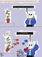 SCP-504 and Sans the Skeleton  by LazzyDawg17