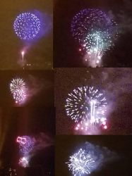 Fourth of July Firework pic Collage by Heart-of-a-Artist