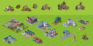 isometric buildings by NickRLee