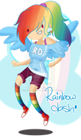 .Rainbow Dash. by CosmicPonye