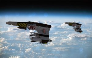 Formation Flying - In Orbit. Remastered by ChrisNs